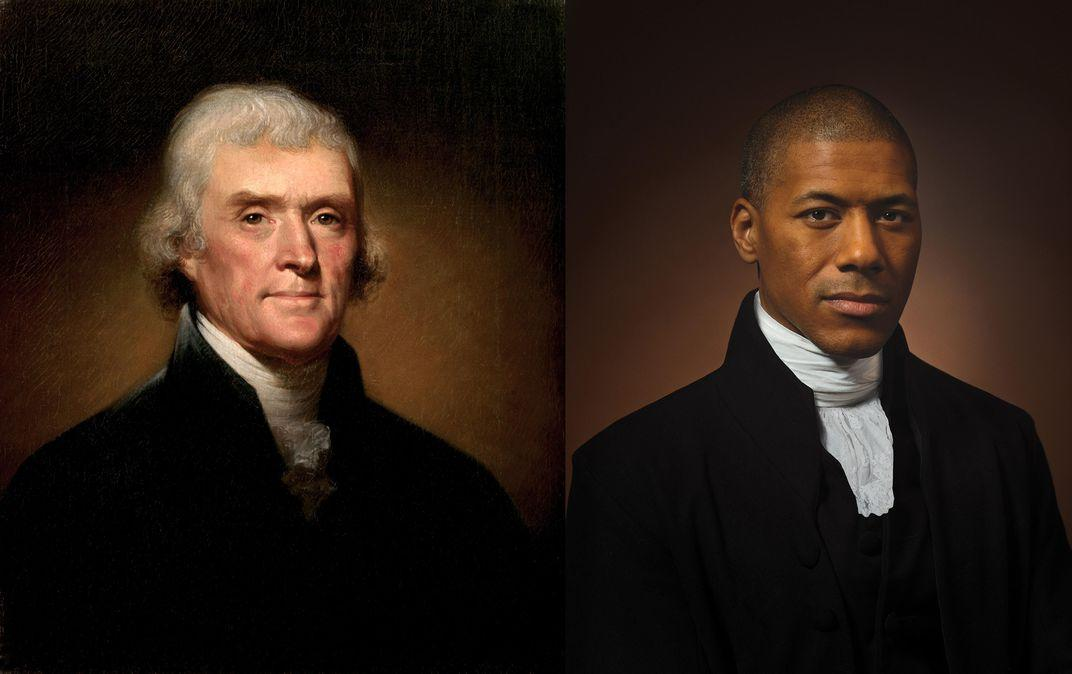 TV host pictured in Smithsonian article alongside his direct ancestor, Thomas Jefferson