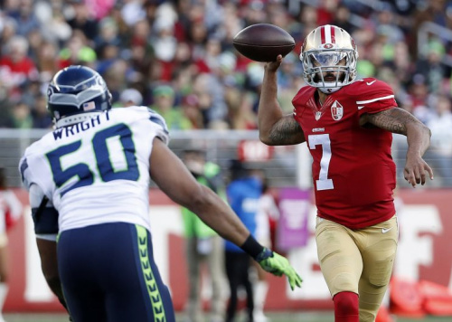 Colin Kaepernick visited with the Seahawks but was not signed. (AP)