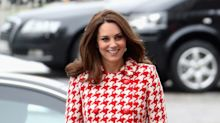 Duchess of Cambridge pairs Chanel bag with houndstooth coat on day two of Sweden tour