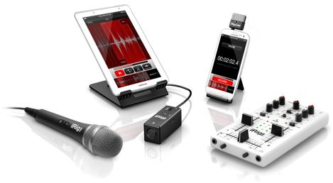 IK Multimedia's iRig and iKlip STUDIO mobile peripherals learn to play nice with Android, stay friends with iOS