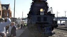 Refurbished 'Big Boy' locomotive fires up crowds in US West