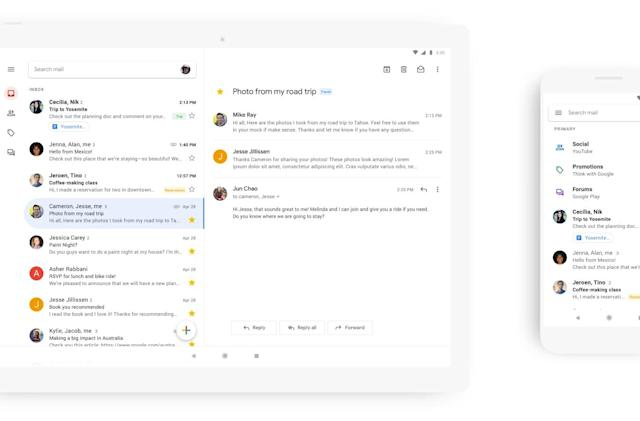 Google cleans up Gmail app with an all-white redesign