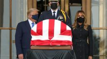 Trump jeered as he visits Ginsburg's casket at U.S. Supreme Court