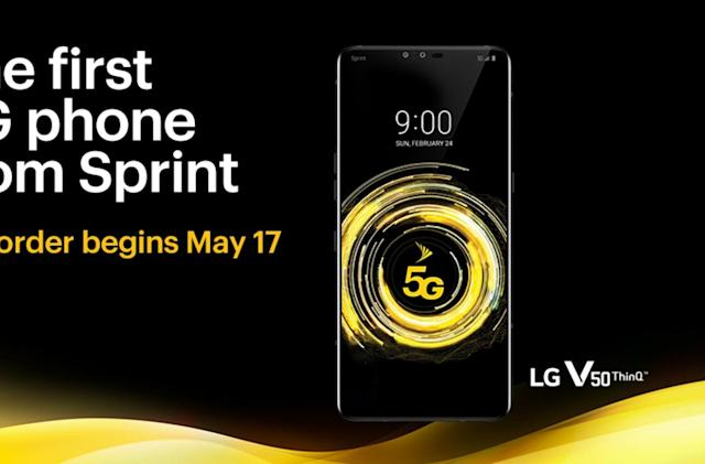 LG's V50 ThinQ 5G is up for pre-order tomorrow from Sprint