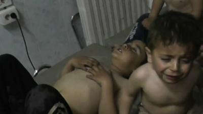 Video Shows Possible Syrian Gas Attack