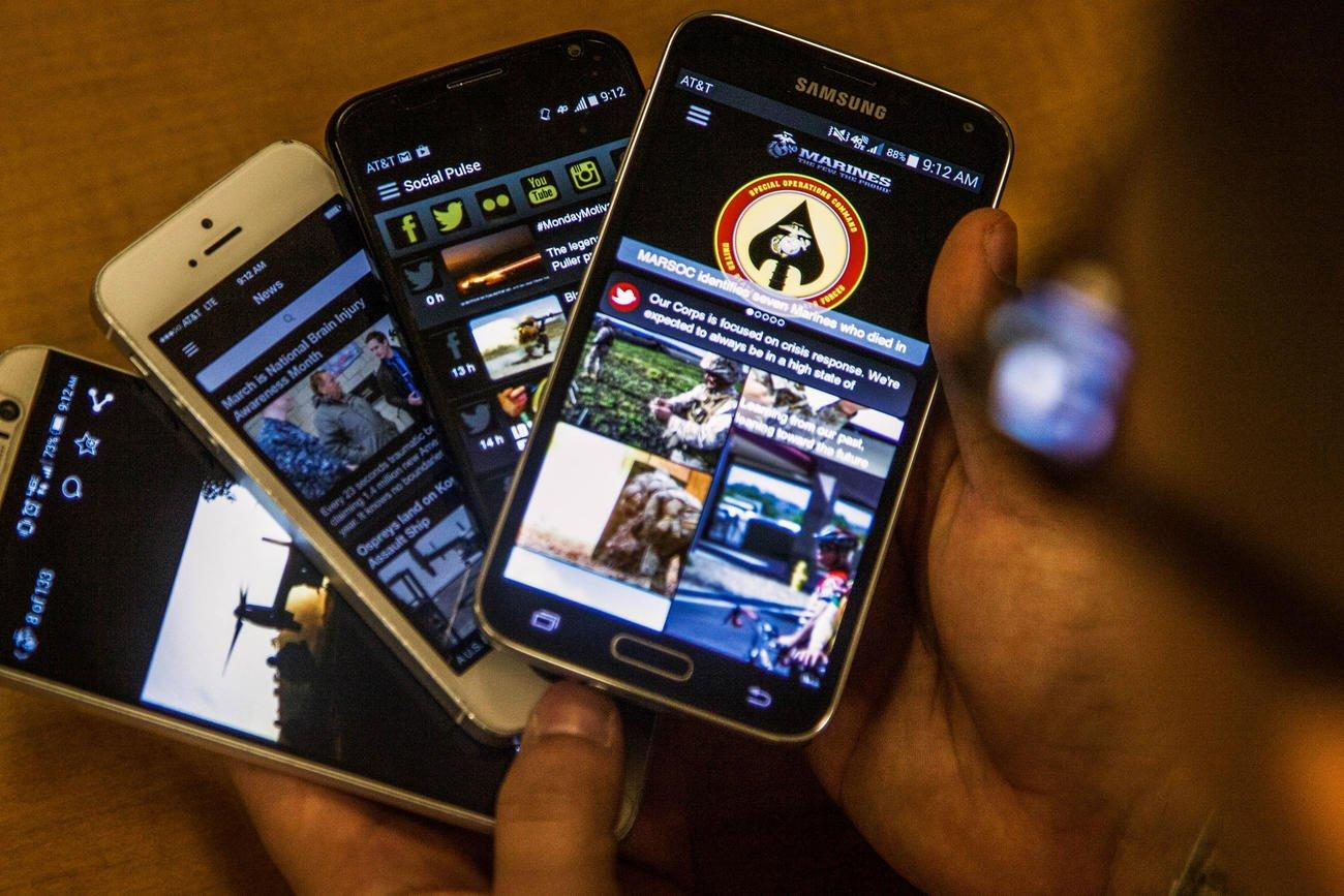 Dating, Gaming, Bitcoin Mining Apps Now Banned from Marines' Government Phones