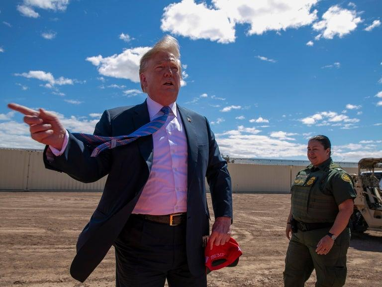 """It was the controversial campaign promise that Donald Trump built his 2016 electoral success on: to build what he called a """"big beautiful wall"""" on the US border with Mexico.But, two and half years after he took office, supporters – who were so enamoured by the idea, they regularly chanted in favour of the structure – may be forgiven for wondering where exactly it is.Now, it has emerged that not a single new stretch of border wall has been built since Mr Trump took office in January 2017.A statement released by the US Customs and Border Protection (CBP) agency confirmed the 51 miles of fencing completed since Mr Trump took power has simply replaced barriers that already existed.No original wall or fencing has been created in areas that previously did not have any, it said.That is despite the fact that a total of 205 miles of both new and replacement wall and fencing has already been budgeted for since Mr Trump took office – including via the Treasury Forfeiture Fund which the president redirected through controversial executive action in February.Speaking anonymously to the Washington Examiner, a senior official in the Trump administration said engineers could move faster on so-called replacement projects than entirely new stretches of fence because the approval process for environmental and zoning permits was less extensive.Another official blamed Democrats for obstructing progress. He told the newspaper: """"The wall projects are moving along as quickly as practicably possible given the unprecedented obstruction from Democrat lawmakers to protect and prolong open borders.""""Yet it seems the lack of progress will not deter Mr Trump from making the wall a central part of his 2020 election campaign.When crowds took up their now familiar refrain of """"build that wall"""" at a recent rally in El Paso, Texas, Mr Trump responded by telling them: """"Now, you really mean 'finish that wall,' because we've built a lot of it.""""The CBP recently said it will be continuing to build the approx"""
