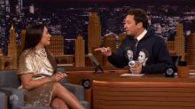 Jimmy Fallon's gift-exchange fail with Demi Lovato