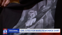 Marilyn Monroe's exposed shoulders got this teen a dress code violation. Confused? So was her mom.