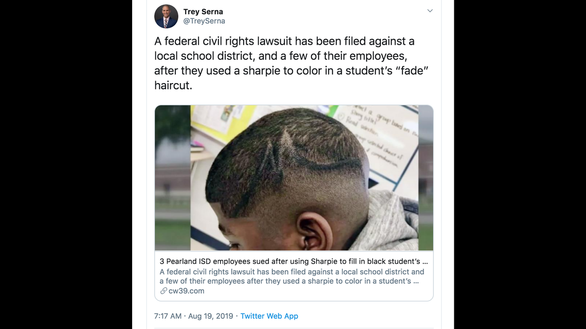 Image result for Lawsuit: White School Employees Laugh As Black Boy's Scalp Colored With Jet-Black Permanent Marker