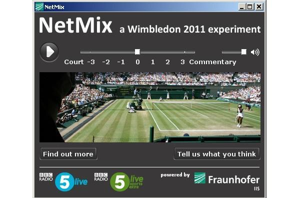 Wimbledon NetMix lets you turn down on-court grunts in favor of staid commentary