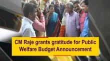 CM Raje grants gratitude for Public Welfare Budget Announcement