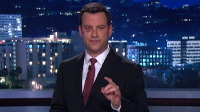 Jimmy Kimmel Sports a Black Eye