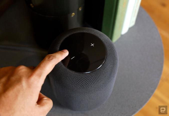 Adjusting volume on Apple HomePod