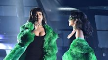 Rihanna Wears Head-to-Toe Green Versace at the iHeartRadio Awards