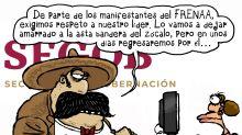 La protesta de FRENAAA se puso radical en el Zócalo