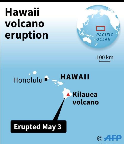 A map of Hawaii locating the Kilauea volcano (AFP Photo/AFP )