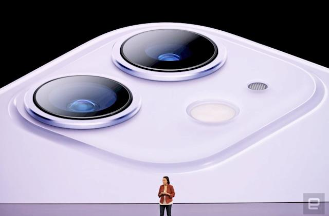 iPhone 11's dual-camera system has an ultra-wide lens
