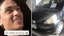 'You know you're in Australia': Man in stitches over angry parking note