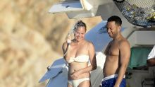 Chrissy Teigen and John Legend Show Off Their Beach Bodies in Sardinia