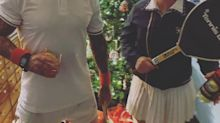 Pink & Carey Hart Dress Up as Tennis Legends Billie Jean King & John McEnroe for Costume Party