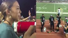 This girl asked a football player to homecoming in the middle of a game