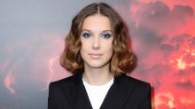 Millie Bobby Brown Rocks a Menswear-Inspired Tuxedo-Dress With Pretty Sandals at 'Stranger Things' Screening