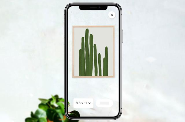 Etsy app adds AR to help you with art placement