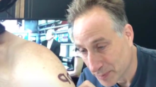'Stop Kavanaugh' temporary tattoo makes Emmys red carpet political