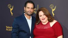 Date Night! Chrissy Metz Shines in Red Dress, Poses With Boyfriend Josh Stancil -- See the Pic!