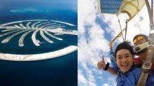 【跳傘挑戰自我系列】高空跳傘體驗:杜拜棕櫚島被喻為世界第八大奇景