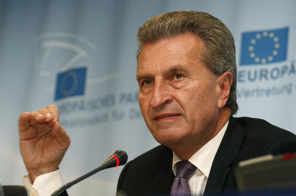 Guenther Oettinger, previously the EU's digital services commissioner, was named in October to take on the budget and human resources dossier