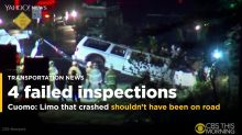 Limo in deadly New York crash failed inspection: Governor