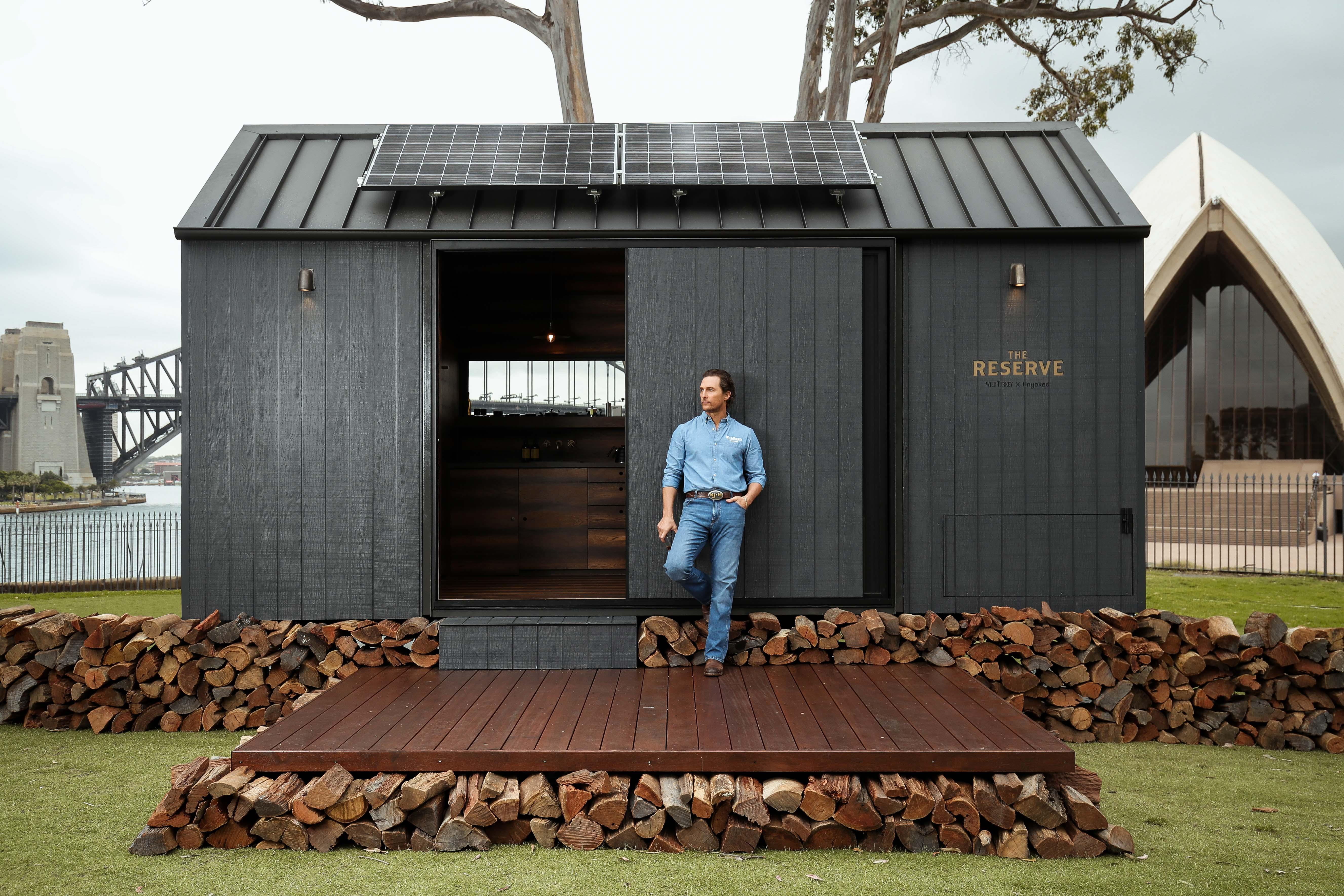 Matthew McConaughey just launched an eco-friendly cabin in Sydney – and you'll soon be able to rent it out
