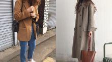 兩位走簡約風的韓國女生,完美示範冬日衣物求精不求多