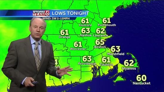 Harvey's Tuesday evening Boston-area forecast