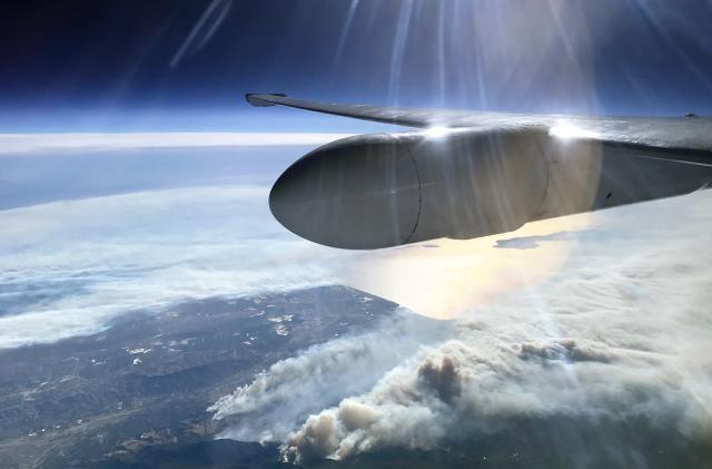 NASA's high altitude ER-2 scans California's wildfires