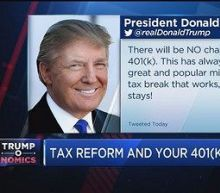 Trump says there will be no change to 401(k) plans