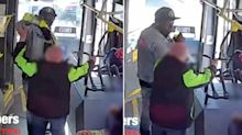 Shocking moment elderly man is 'assaulted' on bus