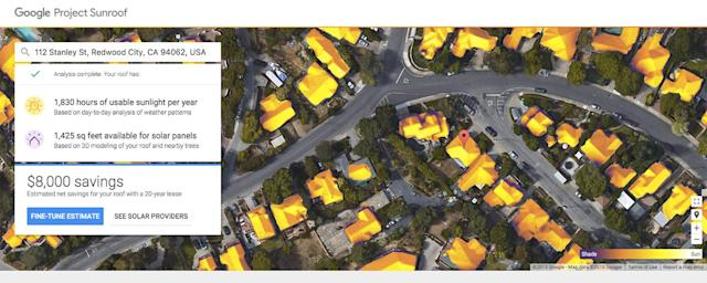 Google's Project Sunroof can assess homes in more states