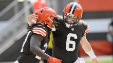 Mayfield, Chubb lead Browns past Washington and over .500
