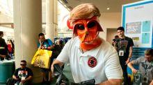 Mark Hamill fue el mejor cosplay de Comic Con: ¡parodió a Trump como Darth Vader!