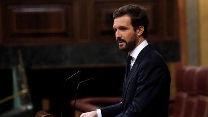 """Casado acusa a Sánchez de querer hacer una """"moción de censura"""" al Estado"""