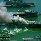 Fire aboard U.S. Navy warship injures 21