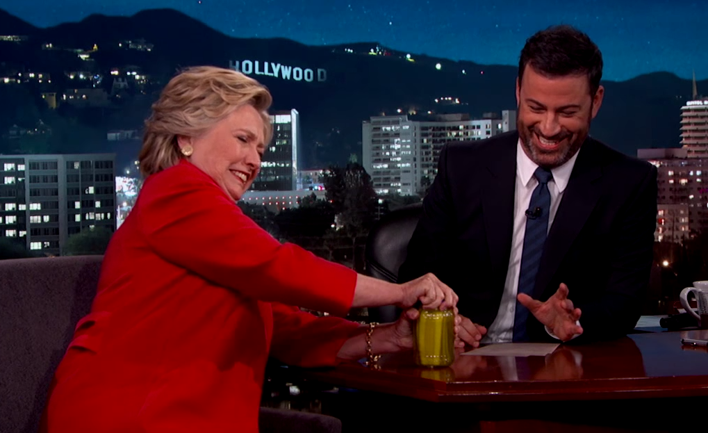 Hillary Clinton Proves to Jimmy Kimmel That She's Not Dying