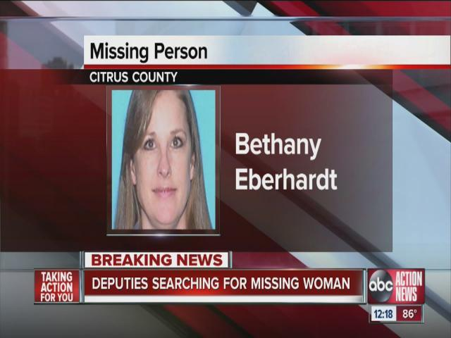 Citrus County deputies search for missing woman, Bethany Eberhardt