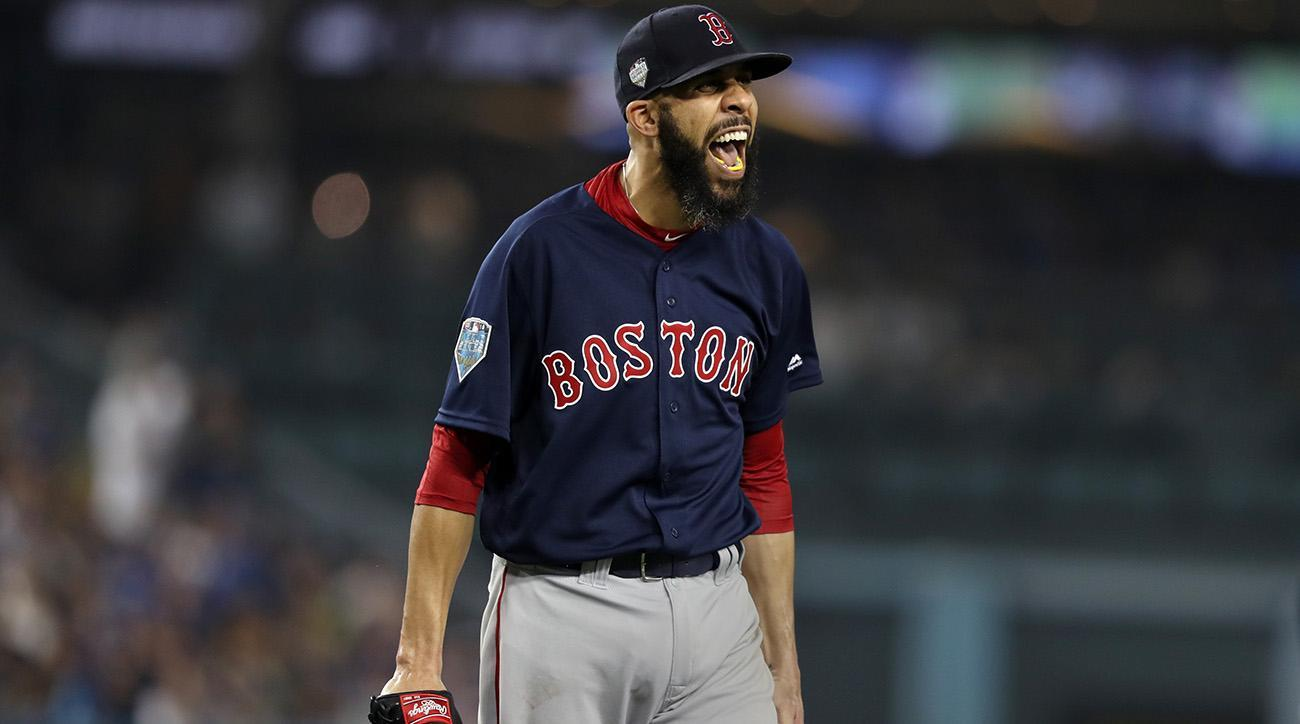 wholesale dealer 69acc a5db7 Watch: Red Sox's Chris Sale Strikes Out Manny Machado to Clinch World  Series Title