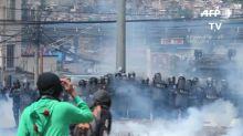 Manifestación opositora en Honduras termina en choques con la policía