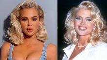 Khloé Kardashian Channels Anna Nicole Smith in New Photos: 'Twins!' Says Sister Kim