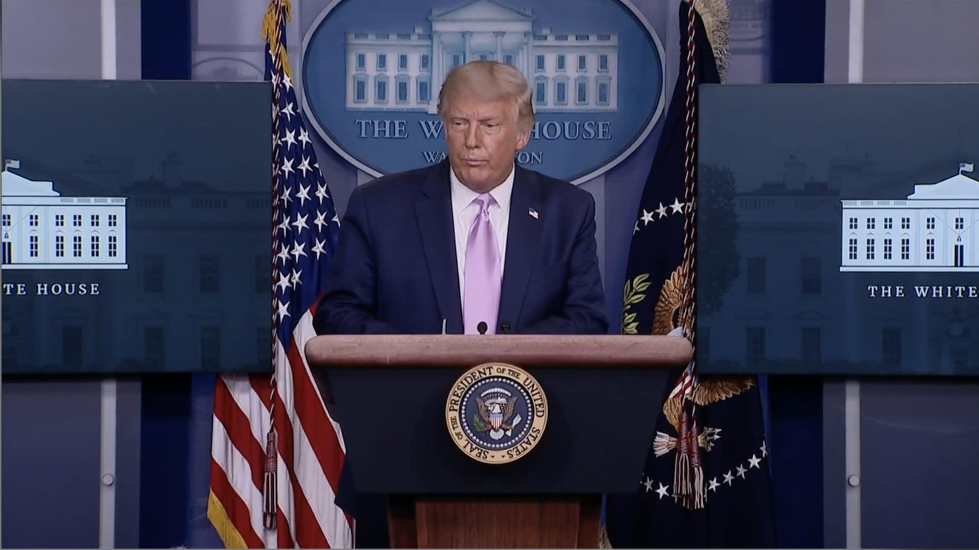 Trump says he 'appreciates' QAnon support Video